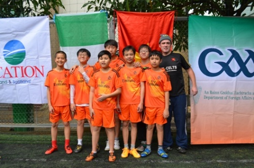 VAS Hanoi U13s with Coach Jim Kiernan