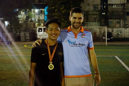 Blue Dragon U15 MVP + Coach John Shoulders
