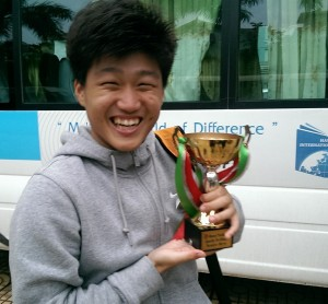 Jeong, Woochan of HIS with the - Hanoi Senior Cup