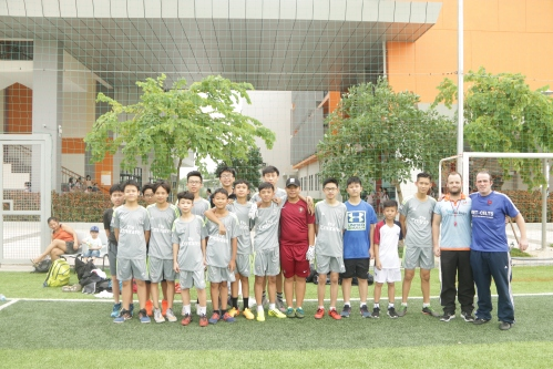 VAS Hanoi U15 with coaches Jim Kiernan + Neil Hiney
