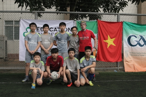 VAS Hanoi U15 with coach Jim Kiernan